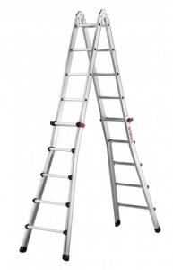 Teleskopický žebřík profi 4x5 příčky